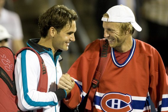 Frederic Niemeyer and Roger Federer at Montreal Rogers Cup
