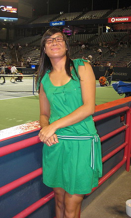 Isabelle Chrun Adidas Originals green dress