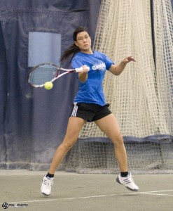 Carabins tennis Isabelle Chrun's forehand