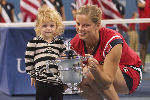 Kim Clijsters and daughter Jada