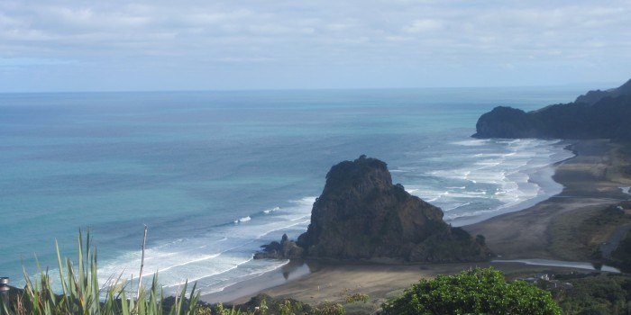 Waves of Piha Beach